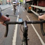 cyclist lorry