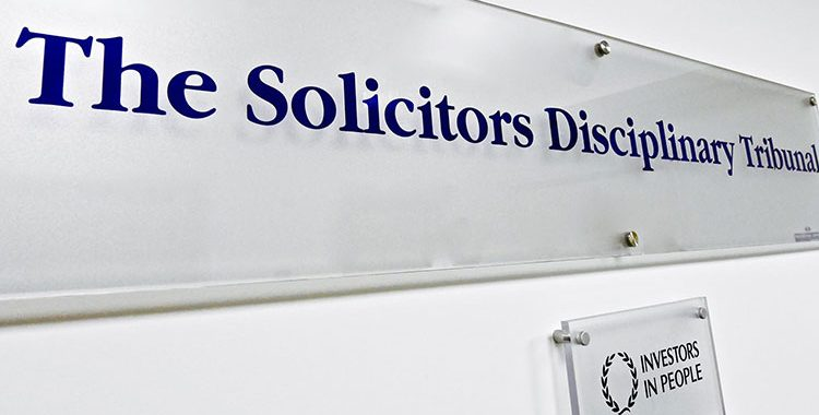 the solicitors disciplinary tribunal struck off a lawyer